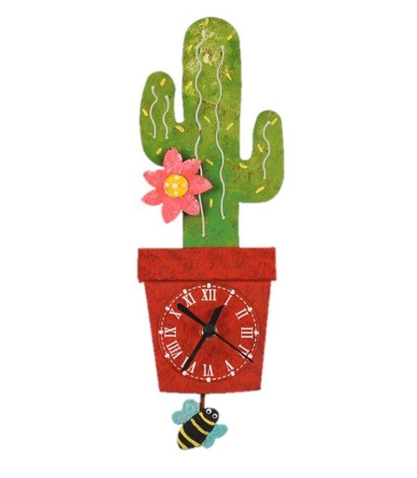 Wanduhr Kaktus