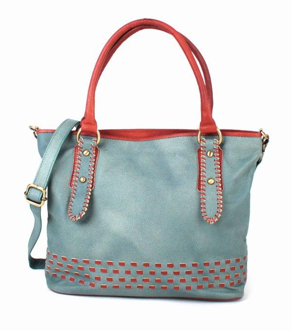 Damen-Handtasche, Jeans-Optik