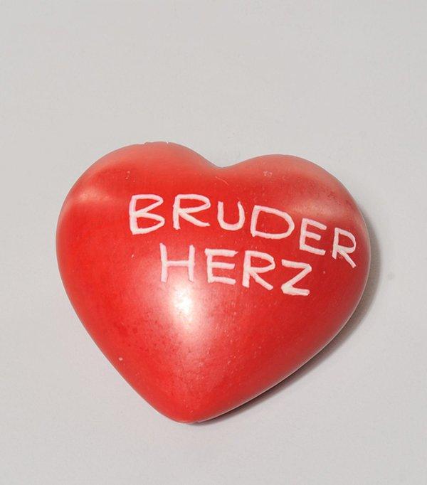"""Speckstein Herz rot """" BRUDERHERZ   """""""