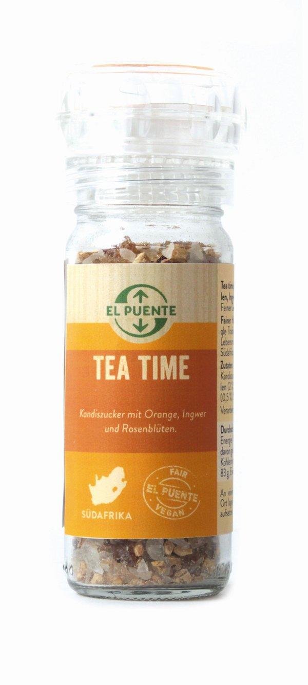 """""""Tea Time"""" Zucker mit Orangenschalen, Ingwer und Rosenblüten"""