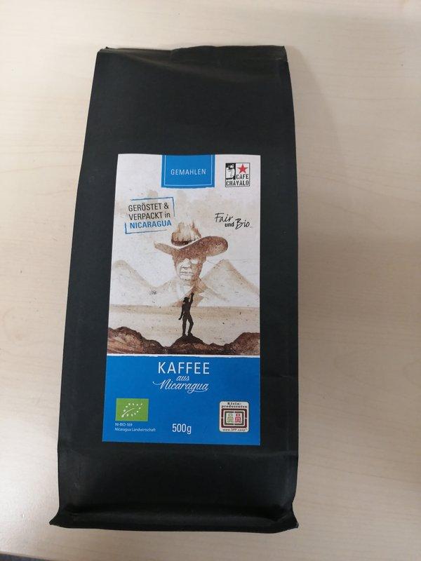 Kaffee aus Nicaragua, gemahlen