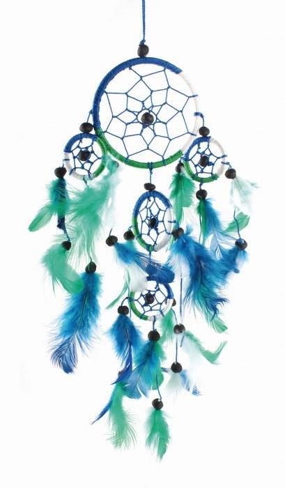 Traumfänger, Blau-, Grün-, Weißtöne