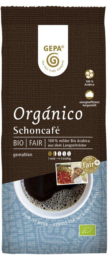 Bio Organico Schonkaffee, gemahlen