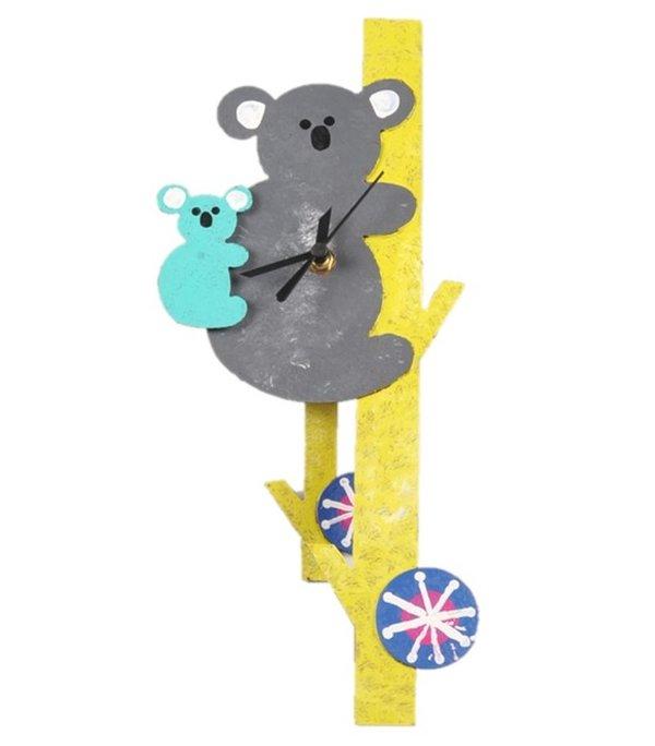 Wanduhr Koalabär mit Baby