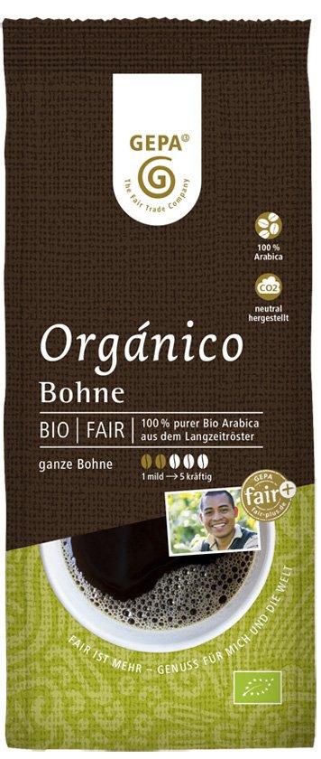 "Kaffee ""Organico"" naturmild, Bohne"