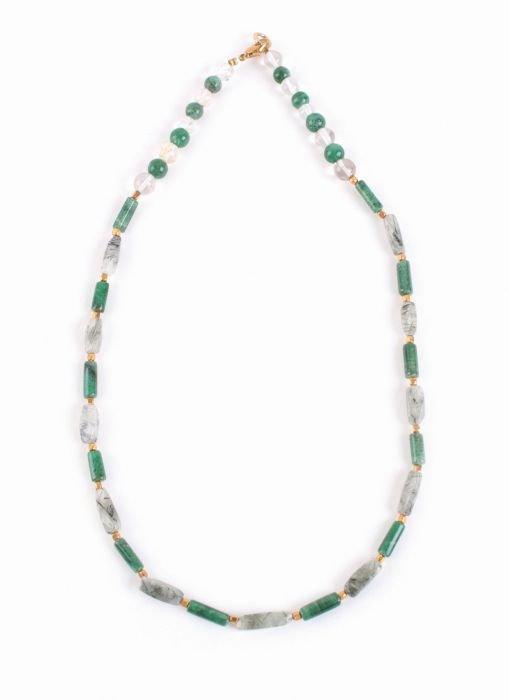 Halskette Heliotrop, Moosachat