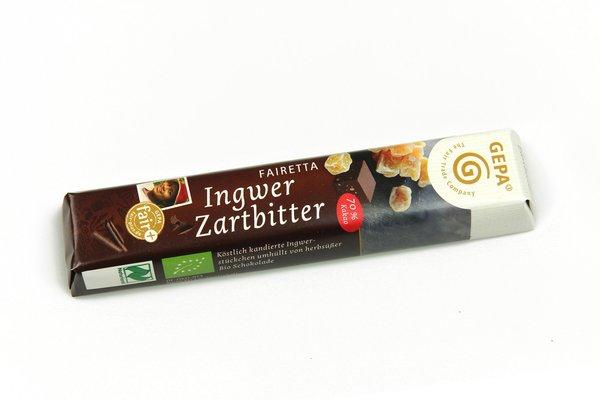 Fairetta Ingwer Zartbitter-Schokoriegel
