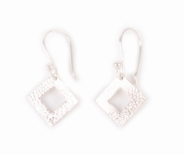 Ohrringe Silber, Rautenförmig