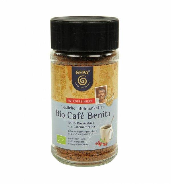 Bio Instant Kaffee entkoffeiniert, Café Benita