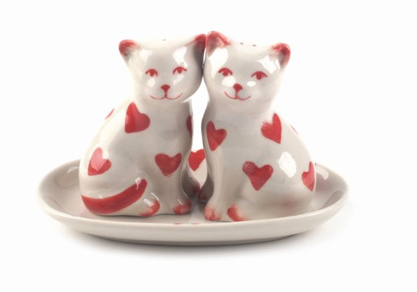 """Salz- und Pfefferstreuer """"Verliebte Katzen"""""""